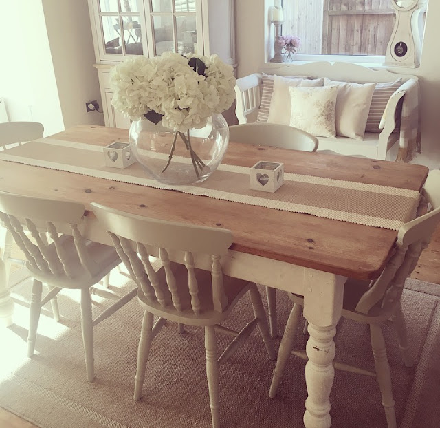 The home that made me for Upcycled dining table