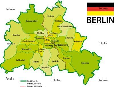Deutschlandkarte Berlin Karte Region Bild