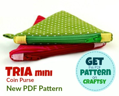 DIY Mini Coin Purse. Get your PDF pattern on Craftsy.