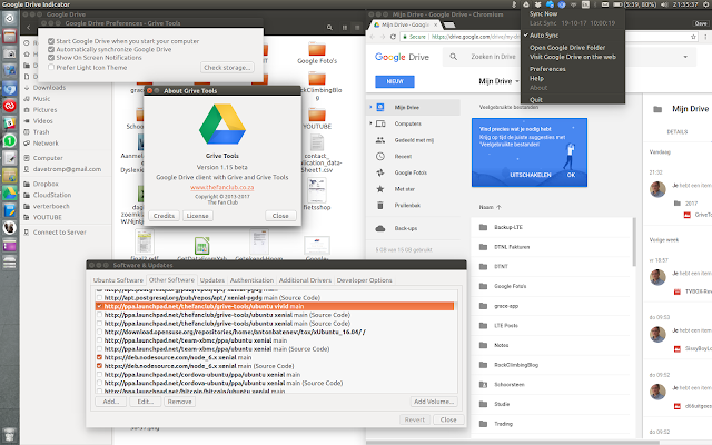 Here's a screenshot of my Google drive and the grive tools open.