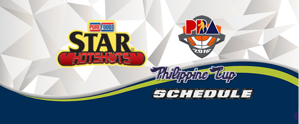 List of Games: Star Hotshots Complete Game Schedules 2016-2017 PBA Philippine Cup