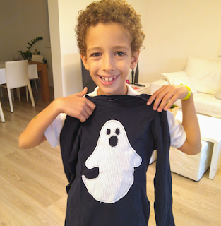 tutorial camiseta halloween niño