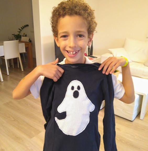 tutorial camiseta halloween niño
