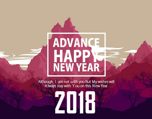 Gambar DP BBM Wallpaper Kata Kata Ucapan Selamat Tahun Baru 2018