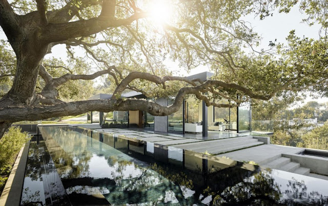 Contemporary Oak Pass House with Infinity Swimming Pool