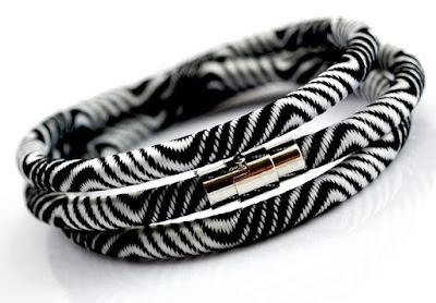 etniczna biżuteria etniczna bransoletka czarno-biała bransoleta trendy 2016 netstylistka