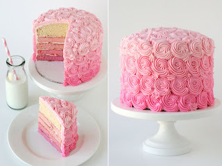 image pink ombre swirl cake