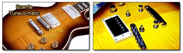 Tipo de Puente Fijo de Guitarra Tune-o-matic o Tom