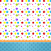 Sweet 16 Colored Dots: Free Printable Invitations and Free Party Printables.
