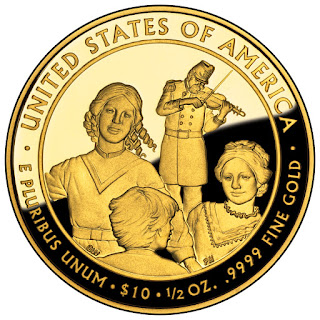 United States Gold Coins Eliza Johnson 10 Dollars First Spouse Gold Coin