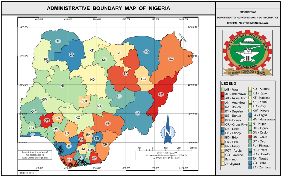 Geospatial Solutions Expert: How to make Maps of Nigeria - Country ...