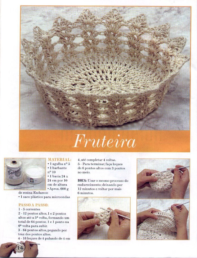 Frutero de Crochet Patron