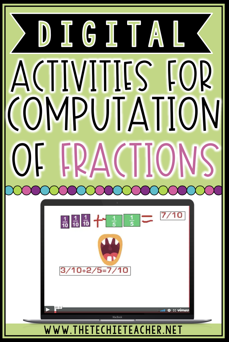 Here are some ideas for digital activity ideas to practice the computation of fractions.