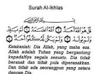 Kedahsyatan Dari Membaca Surah Al-Ikhlas