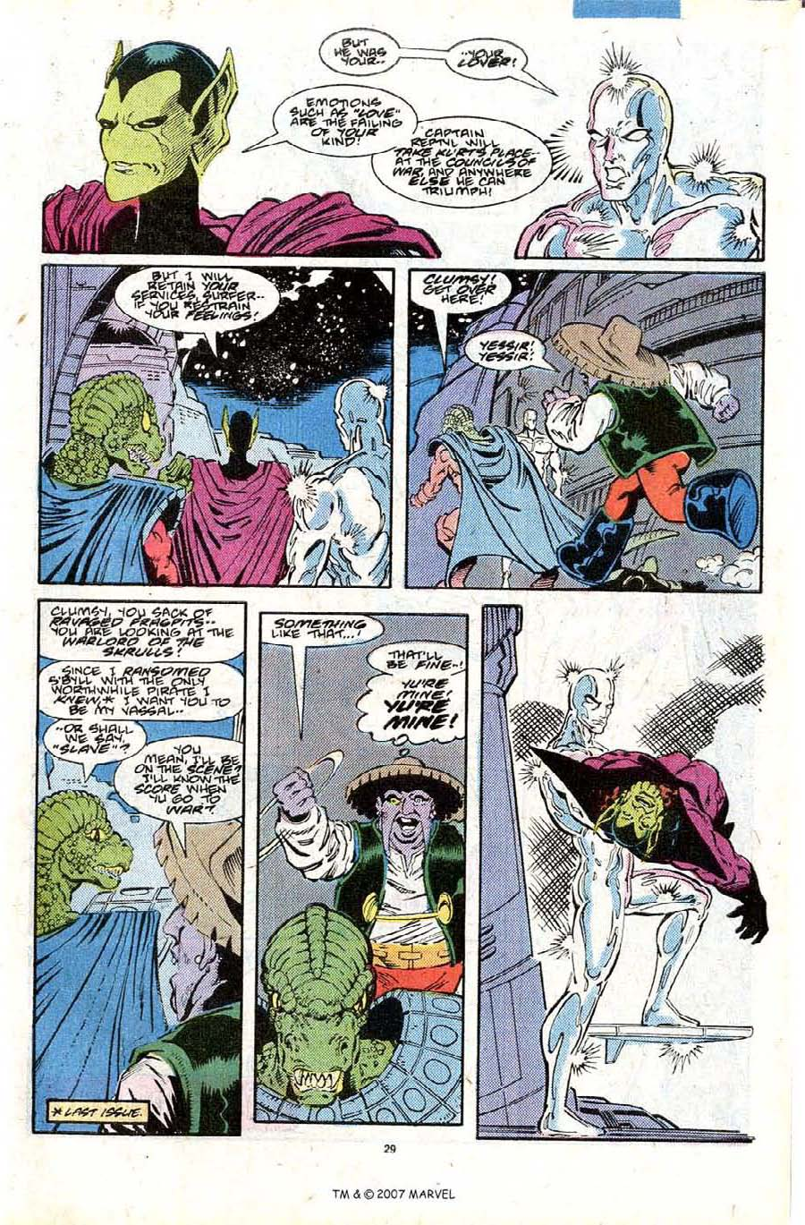 Read online Silver Surfer (1987) comic -  Issue #28 - 31