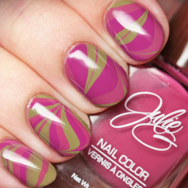 Julie G Nails Bohemian Dreams Collection water marble