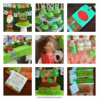 Gardening party for kids, printable party decoration kit