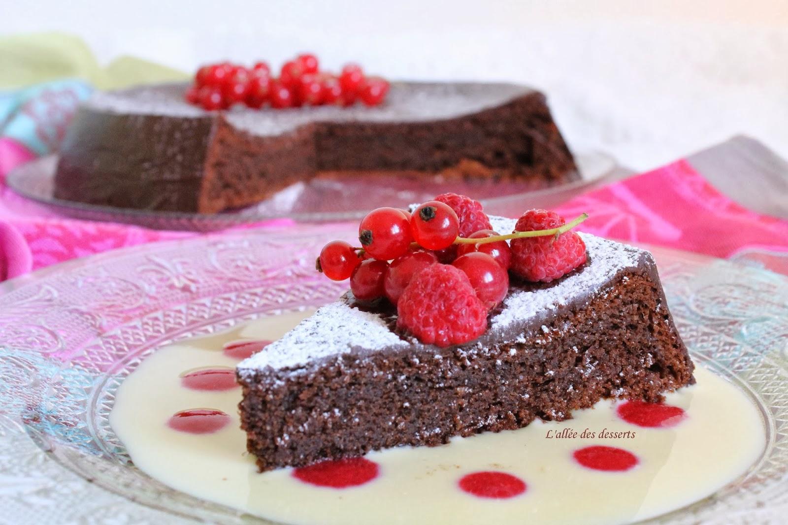 L'allée des desserts: Gâteau au chocolat tout moelleux