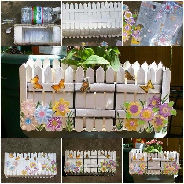 Reciclart jardinera con materiales reciclados manualidades for Como decorar una jardinera