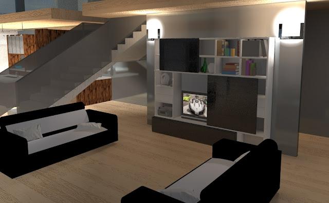 Render 3d elaborazione grafica 3d ambienti interni for Arredamento cad