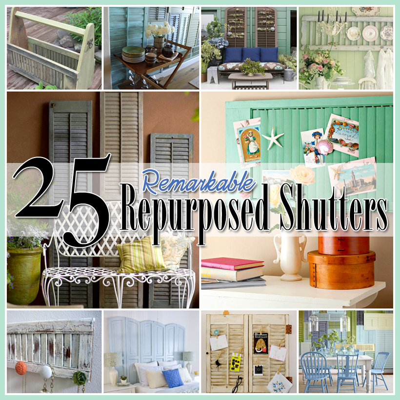25 Best Ideas About Mediterranean Style Shutters On: 25 Repurposed Shutter Decorating Ideas
