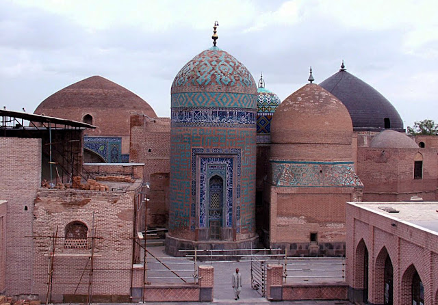 Domes of Sheikh Safi Shrine and Khangah.