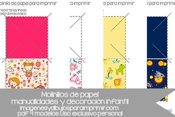 molinillos de papel para imprimir