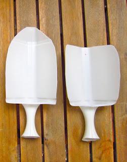 hacer una pala de plastico