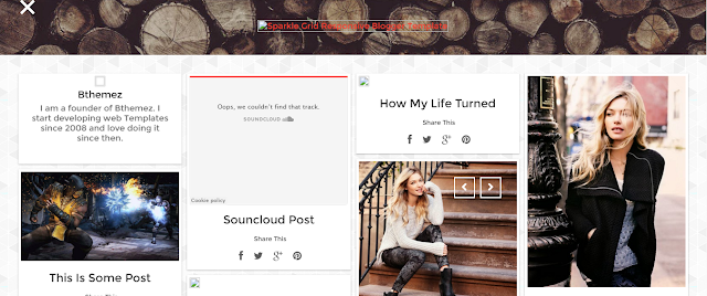 Sparkle Grid Blogger Template Free Download