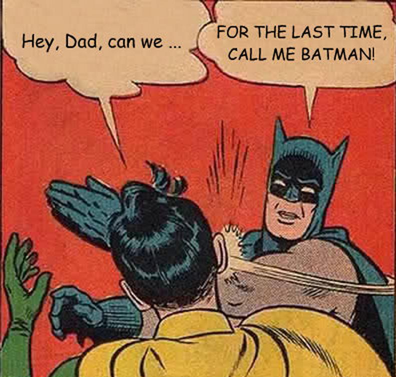 Batman y Robin. Papá e Hijo