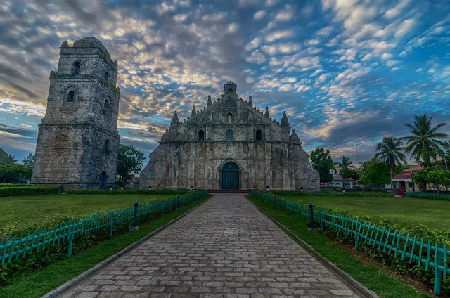 Saint Augustine Church Dawn (Spanish Iglesia de San Agustín de Paoay), commonly known as the Paoay Church Ilocos Norte Philippines
