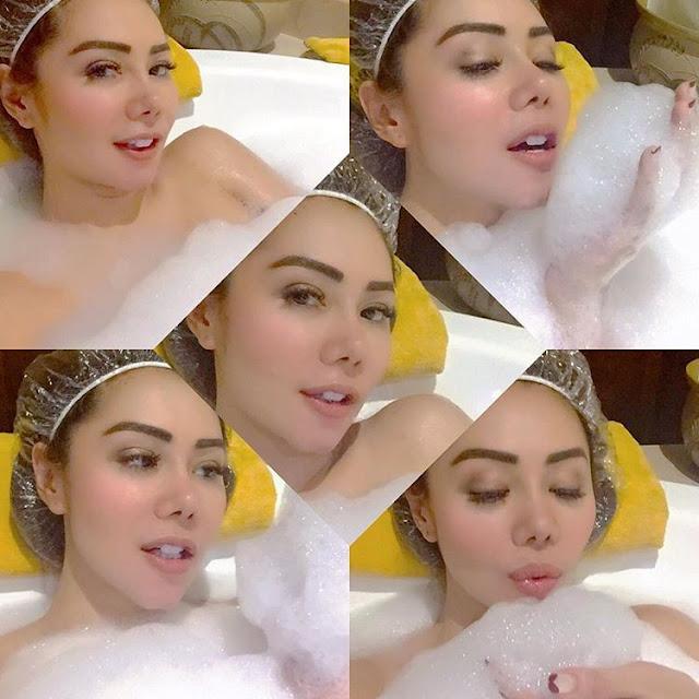 Foto Femmy Permatasari Lagi mandi tanpa sensor
