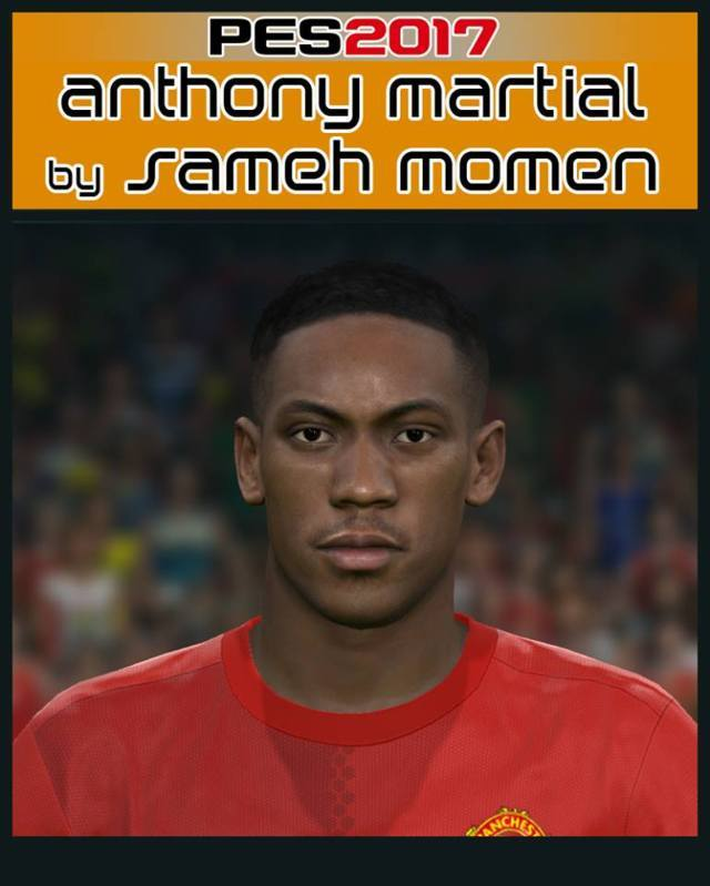 Pes 2017 L Moura Face By Sameh Momen: Face Anthony Martial - PES 2017 - PATCH PES