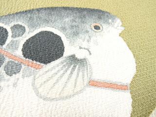 和文様のフグ模様画像