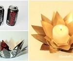 Coke tins into Candle Votives