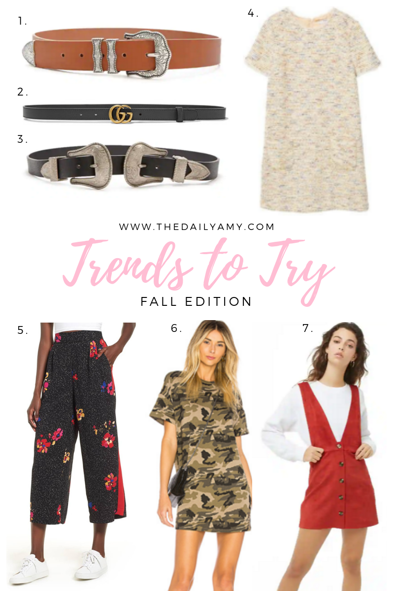 Fall trends to try 2018