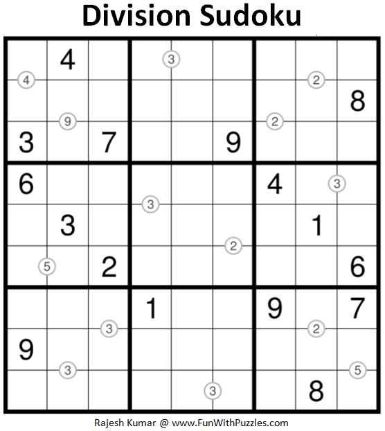 Division Sudoku (Fun With Sudoku #170)