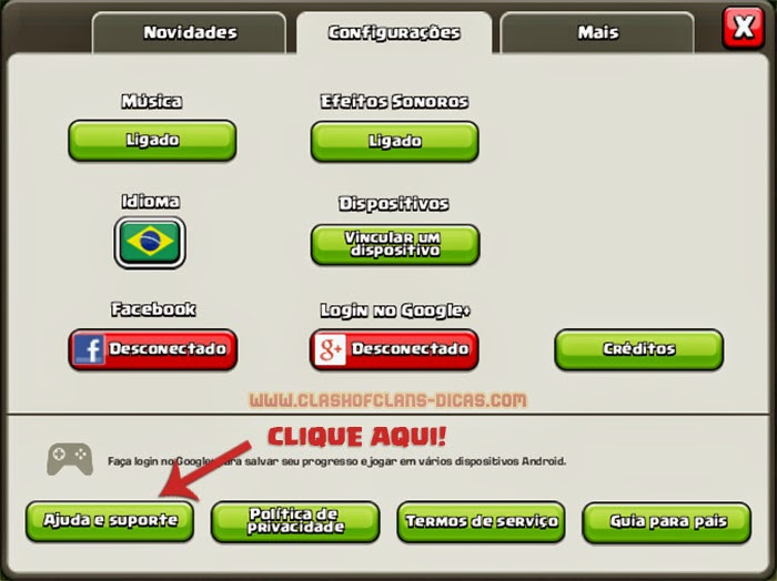 recuperar vila perdida clash of clans contato suporte supercell%2b(1)