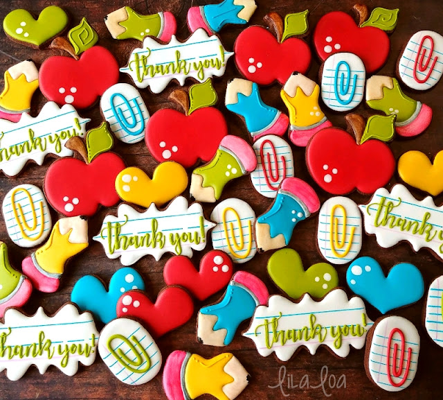 Cute and fun decorated school sugar cookies