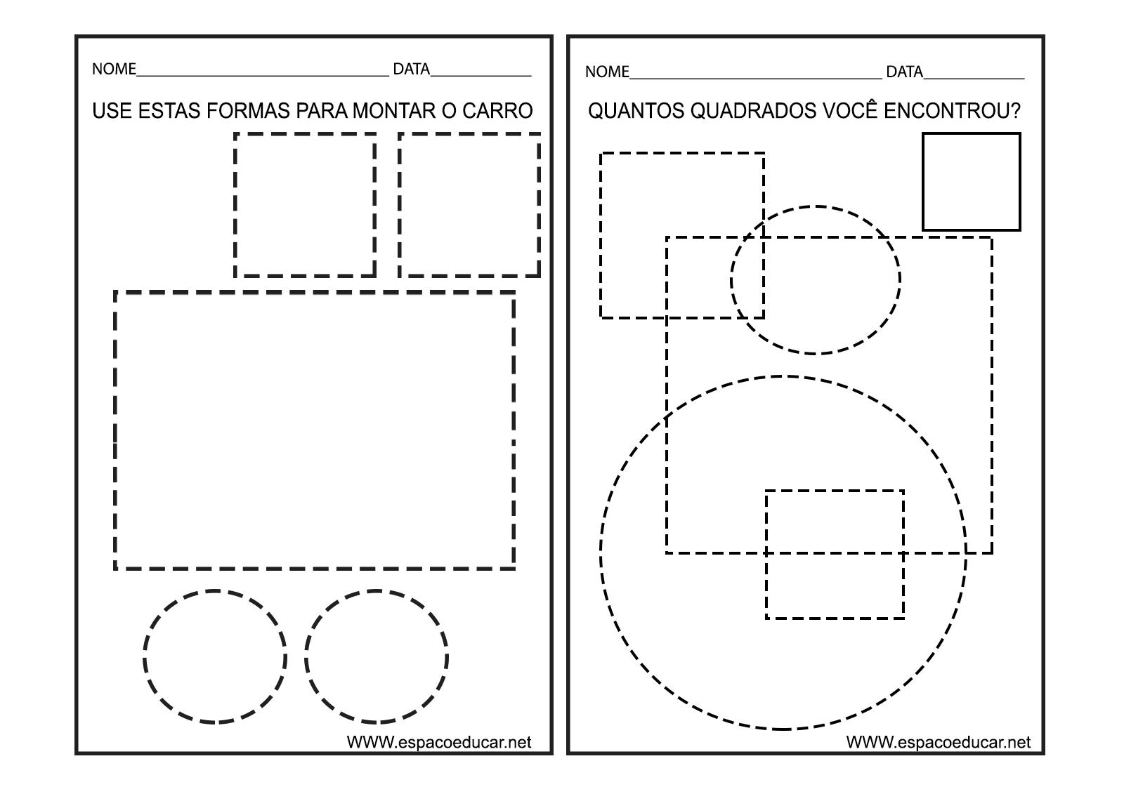 Fabuloso ESPAÇO EDUCAR: Caderno de Atividades Cores e Formas para Educação  BL99