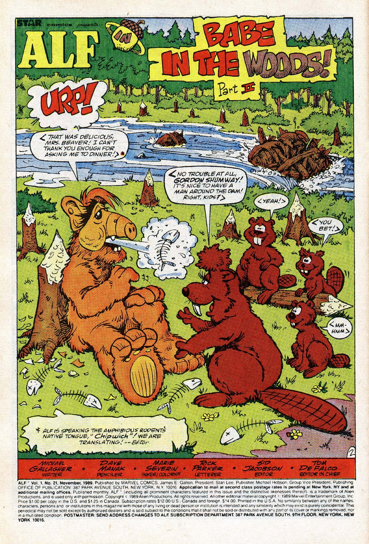 Read online ALF comic -  Issue #21 - 3