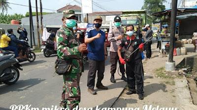Sosialisasi PPKM Mikro dan Gebrak Masker Desa Kampung Melayu Barat