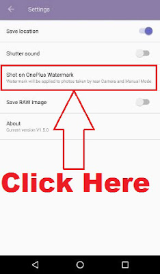 how to remove oneplus watermark