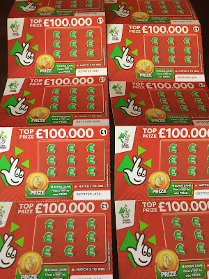 National Lottery £1000,000 Scratch Cards From 2017