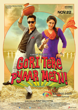 Gori Tere Pyaar Mein 2013 DVDRip 400MB Full Hindi Movie Download 480p Watch Online bolly4u