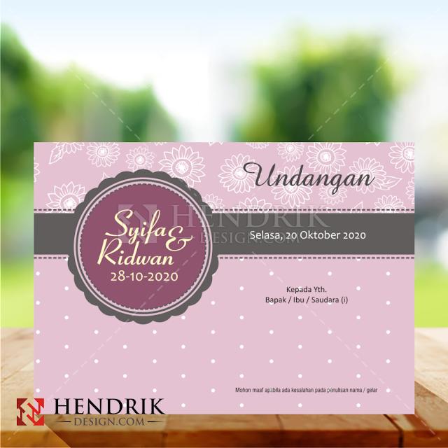 Contoh Undangan Pernikahan Vintage Softcover (HCGD-37)