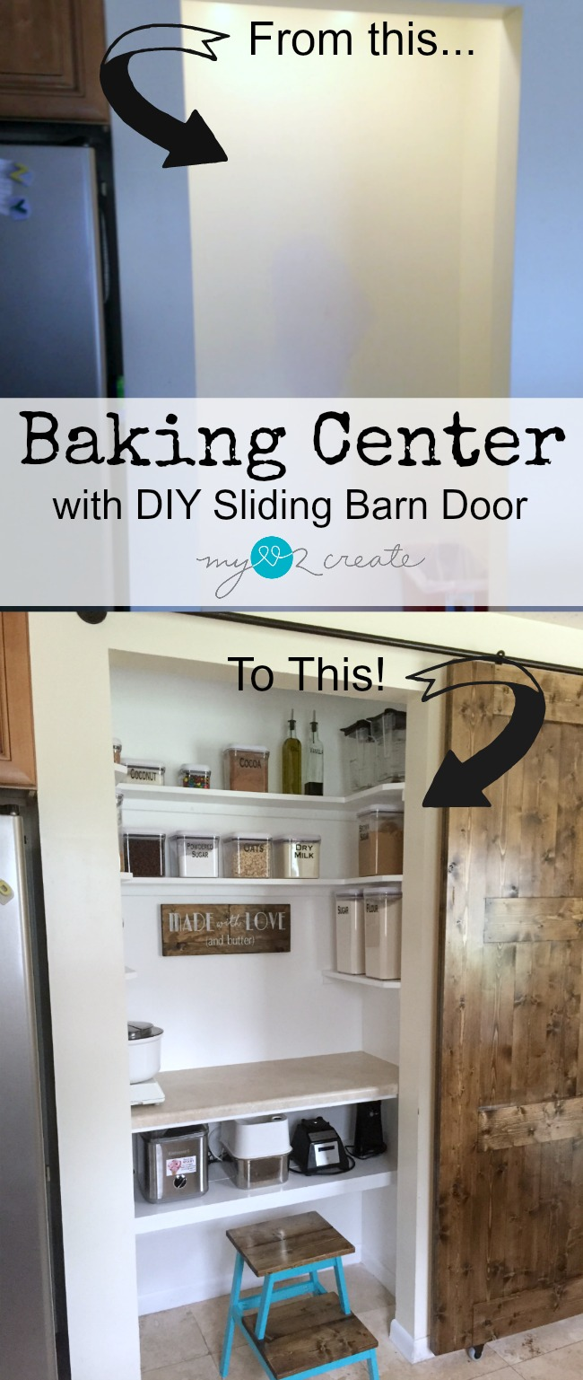 Learn how to turn your pantry into a Baking Center for all your baking needs, tutorial at MyLove2Create