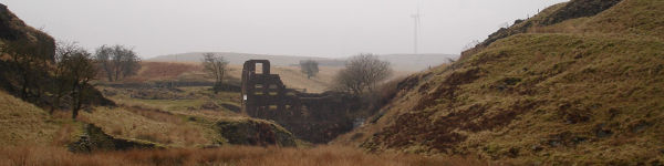 Ruins of Cheesden Lumb Mill, north of Heywood, Lancashire