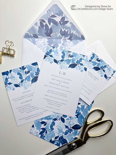 Floral Envelope Liners