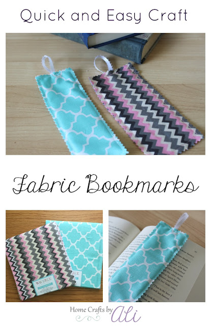 Quick and Easy Craft Fabric Bookmarks. Sewing for Beginners.